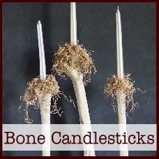 bone candlesticks