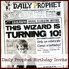 Daily Prophet Birthday Invitation