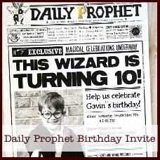 Daily Prophet Birthday Invitation
