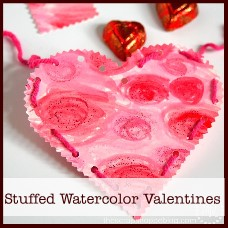 stuffed watercolor valentines