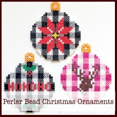 buffalo-check-perler-bead-christmas-ornaments