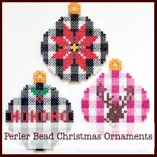buffalo-check-perler-bead-christmas-ornaments