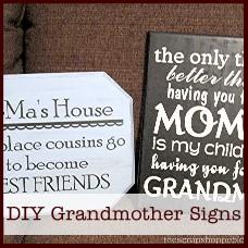 diy grandmother signs