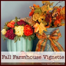 fall farmhouse vignette