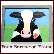 faux barnwood picture frame