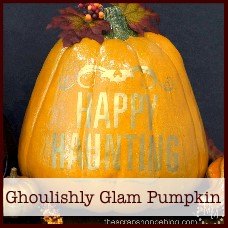 ghoulishly glam pumpkin