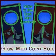 glow in the dark mini corn hole