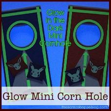 glow in the dark mini corn hole