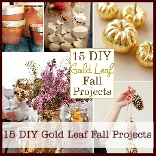 DIY gold leaf projects for fall