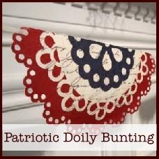 patriotic doily bunting