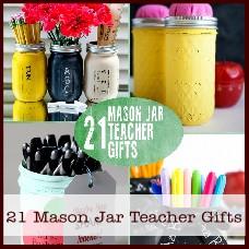 Mason jar teacher gifts