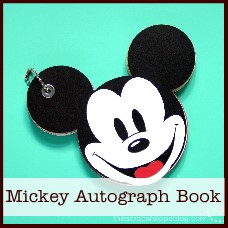 Mickey Mouse autograph book