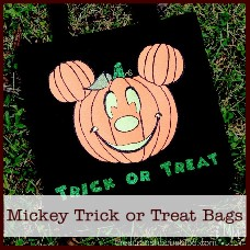 Mickey Mouse trick or treat bags