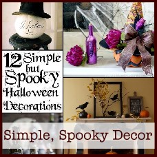 Simple but spooky Halloween decor