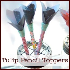 tulip pencil toppers