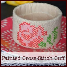 upcycled-painted-cross-stitch-cuff