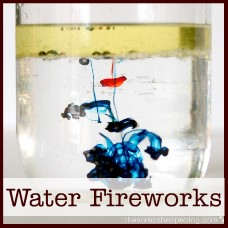 water fireworks experiment