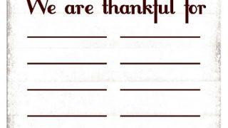 Thanksgiving Thankful For Printable