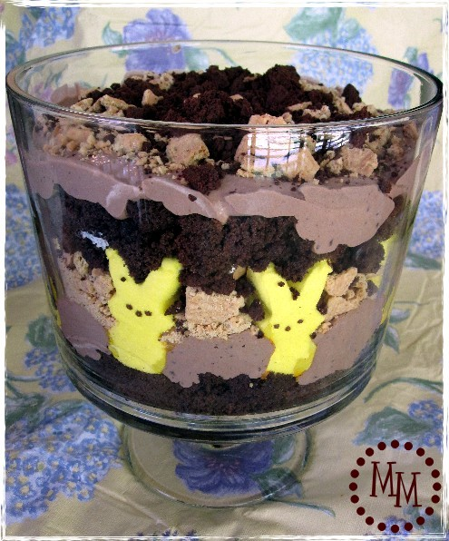 S'mores trifle with Peeps Bunnies