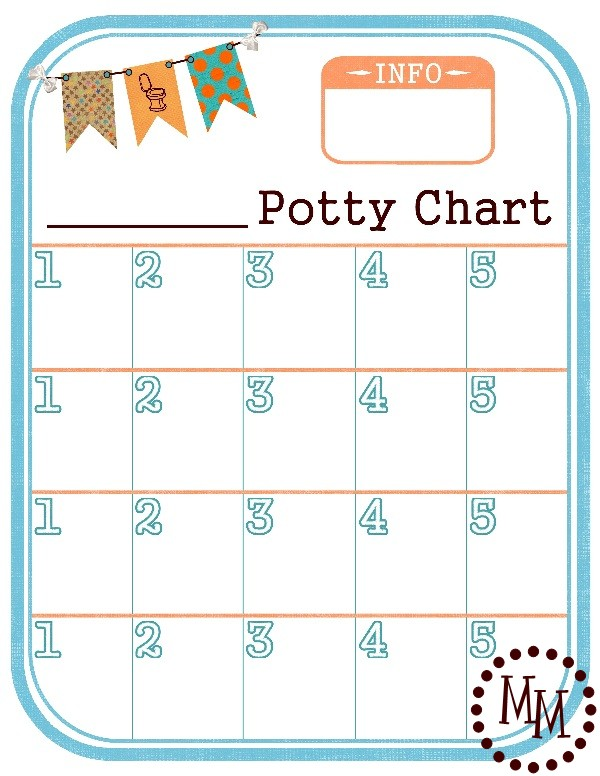 Potty Training Chart {FREE Printable!} - The Scrap Shoppe