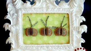Framed Book Page Pumpkins