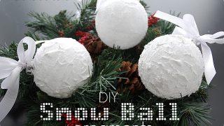 Snow Ball Ornaments {Homemade Christmas Decor}