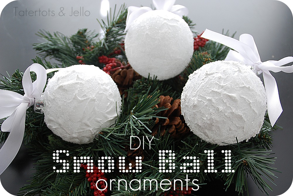 diy snow ball ornaments