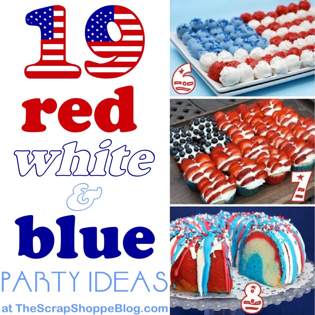 30 Patriotic Home Decoration Ideas In White Blue And Red: 19 Red, White, & Blue Party Ideas