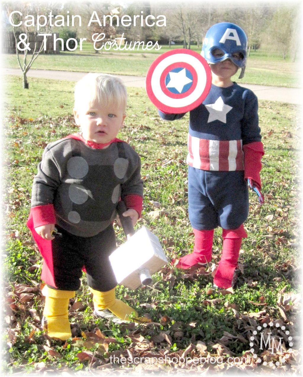 sc 1 st  The Scrap Shoppe & DIY Captain America u0026 Thor Costumes - The Scrap Shoppe