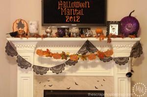 Halloween Mantel 2012 - 1