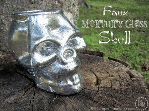 faux mercury glass skull 1