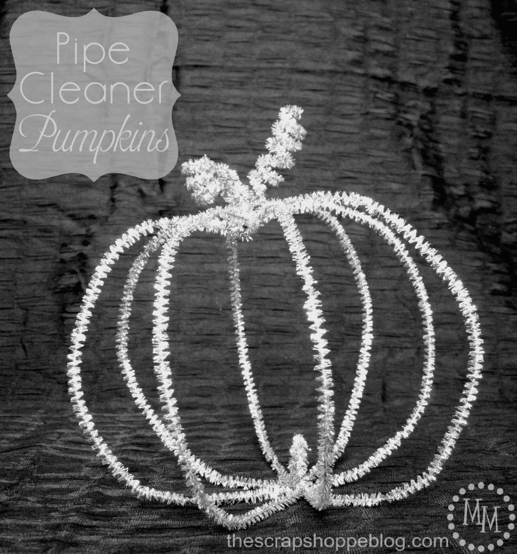 Pipe cleaner pumpkins the scrap shoppe for Pipe cleaner turkey craft