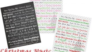 Christmas Music Subway Art Prints