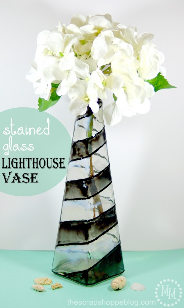 Stained Glass Lighthouse Vase The Scrap Shoppe