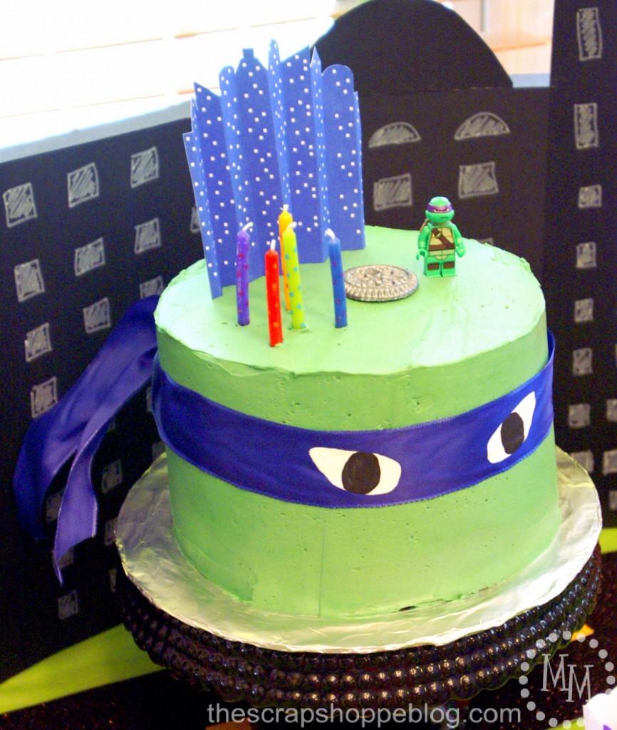 Surprising Teenage Mutant Ninja Turtle Tmnt Birthday Party The Scrap Shoppe Funny Birthday Cards Online Bapapcheapnameinfo