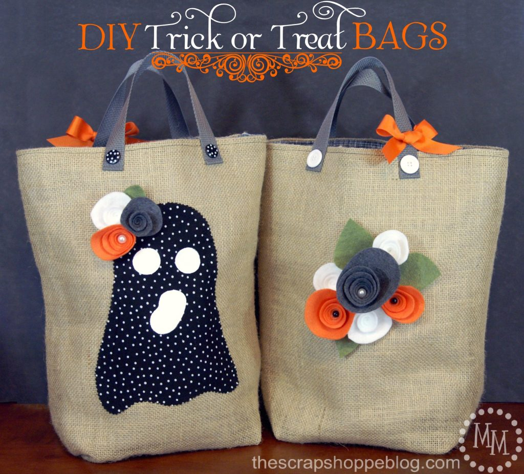 diy trick or treat bags the scrap shoppe