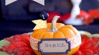 DIY Thanksgiving Pumpkin Place Setting