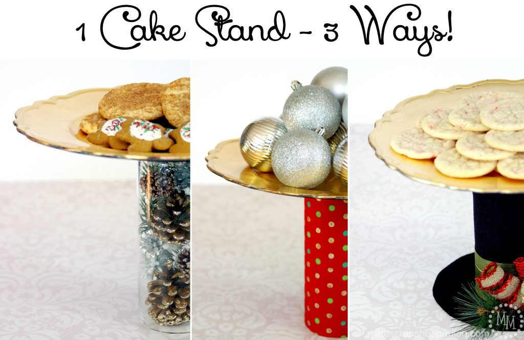 DIY Cake Stand Dressed Up 3 Ways!