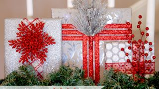 Canvas-Wrapped Christmas Gift Decor