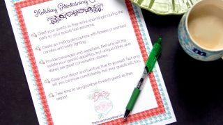 Holiday Entertaining Checklist