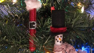 Test Tube Glitter Ornaments