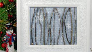 Simple Winter Wonderland Framed Art