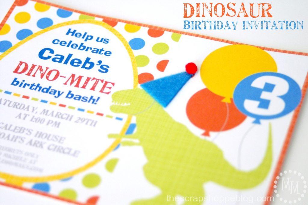 Dinosaur birthday party invitation the scrap shoppe stopboris Choice Image