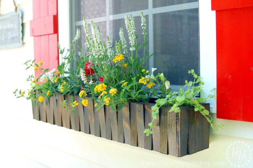 make it window flower box the scrap shoppe. Black Bedroom Furniture Sets. Home Design Ideas
