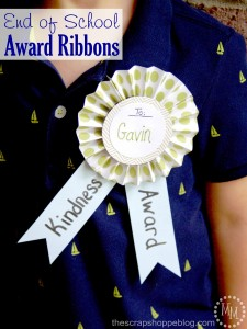 End of School Award Ribbons