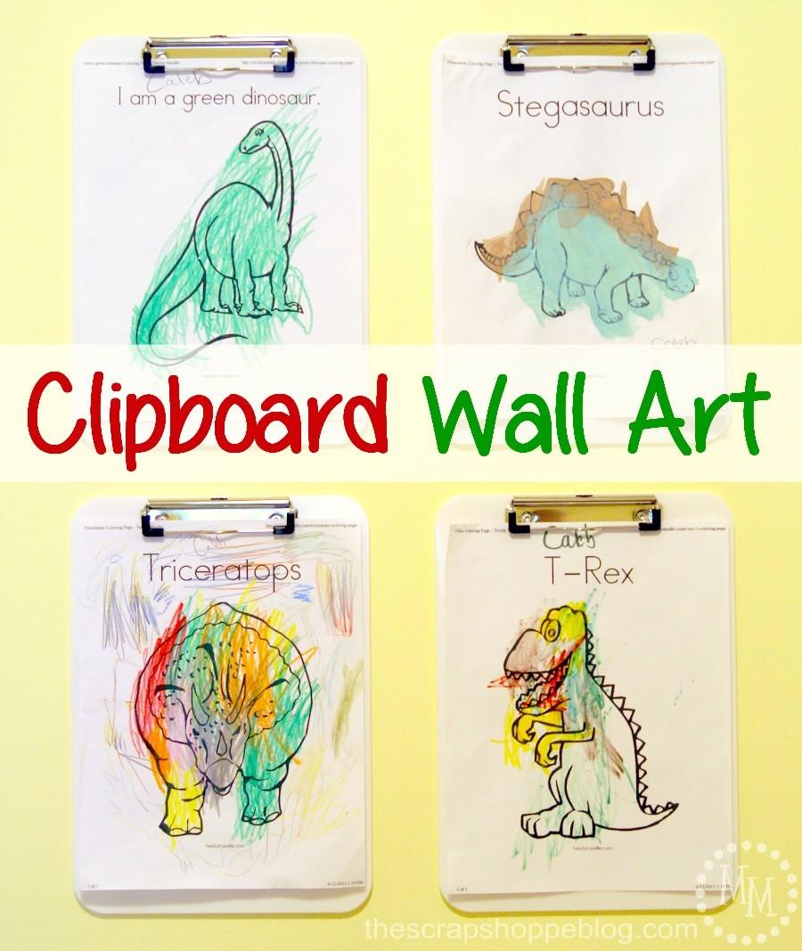 Clipboard Wall Art : Easy clipboard wall art the scrap pe