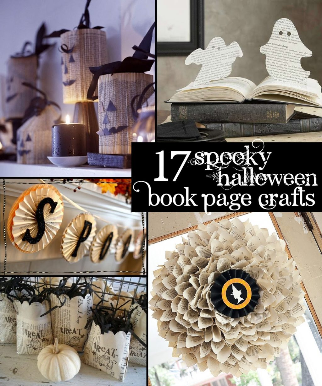 17 Spooky Halloween Book Page Crafts The Scrap Shoppe
