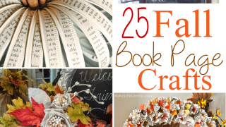 25 Fall Book Page Crafts