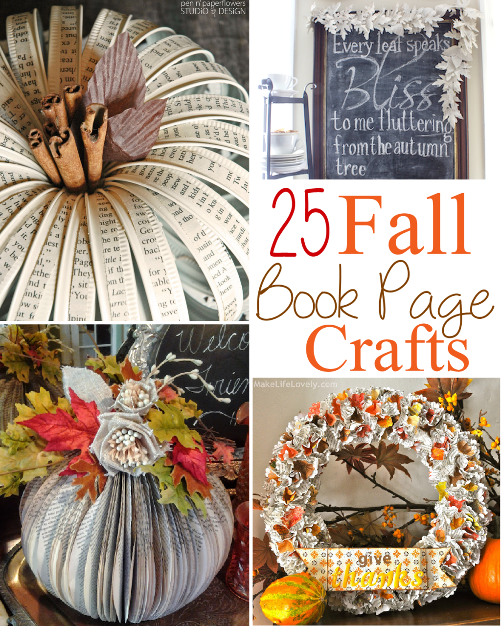 Book Cover Craft Books : Fall book page crafts the scrap shoppe