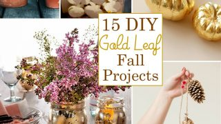 15 DIY Gold Leaf Projects for Fall